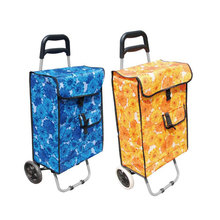 2017 Wholesale Portable Folding shopping Luggage Bag Cart vegetable Shopping Trolley Bag with wheels