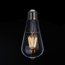 Cheap factory price st64 led filament bulb heat resistant light bulbs light