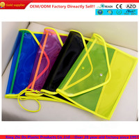 High quality colored PVC hand bag with wristlet