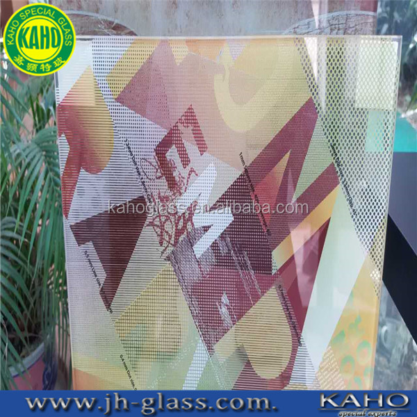 shap customized Workable and quality-guaranteed digital printing glass made from float glass for bathroom application