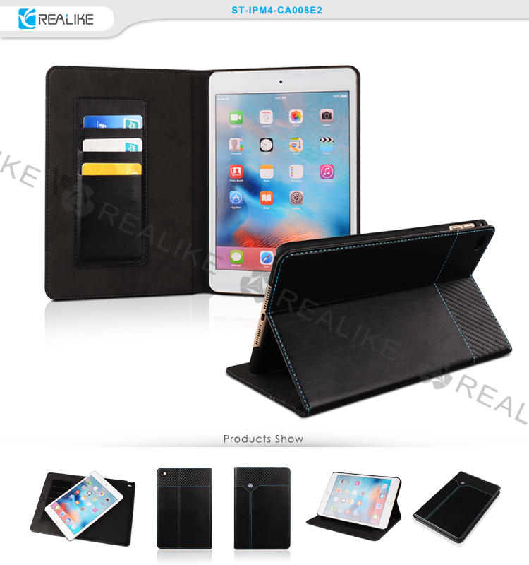 Free sample tablet case for apple ipad mini 4, tablet pc leather stand case for ipad mini