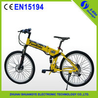 High quality pedal assist strong electric china folding bike