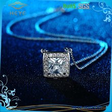Factory direct price imitation diamond chain pendant with single big stone