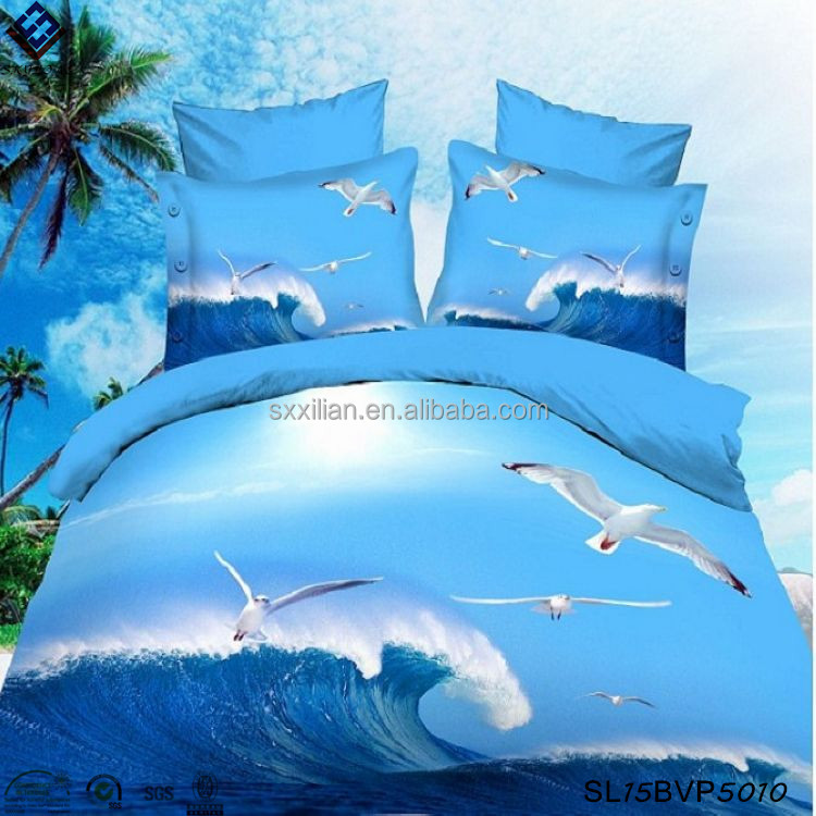 Blue ocean AB design 3D twill bedding sets 50% cotton 50% polyester