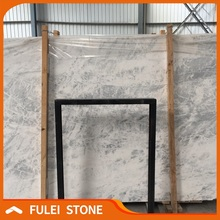 Sky blue white marble with blue veins slabs stone price