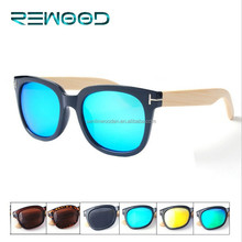 New Brand Rewood Polarized Bamboo Sunglasses With REVO Lenses And Spring Hinges Wooden Glasses