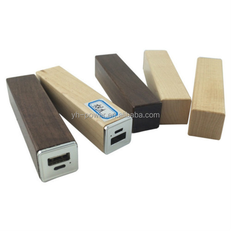 Promotional Gift Wooden Channel 2600mah power bank