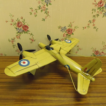 Classic antique metal airplane model collection