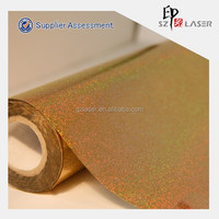Holographic gold metalized pet plastic film for candy packing