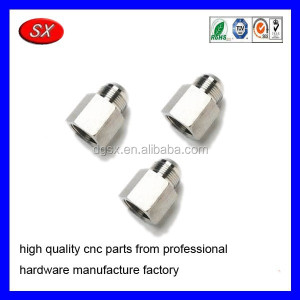 Female pipe adapter made with drawings,OEM cnc machining fastener stainless steel 316/brass male adaptor