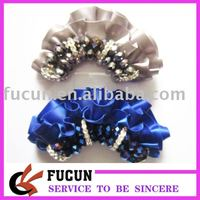 wholesale Fashion Rhinestone Shoe Decorative ,Handmade Shoe accessories flower with Beads for footware