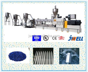 JWELL - Twin Screw Extruders for plastic caco3/talc filler masterbatch making machine/filler masterbatch pelletizing equipment