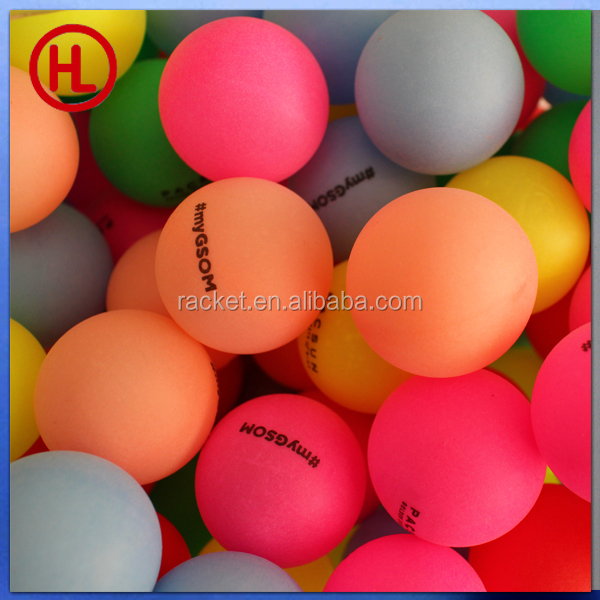 Cheap color custom logo ping pong ball table tennis ball for Small ping pong balls