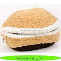 Non slip pet dog beds, hot sale covered dog bed, hamburger dog bed