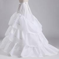 BV10 Good Price And Quality Wedding Gown Train Crinoline Underskirt 3-Layers Petticoat For Wedding Dress Wedding Underskirt