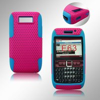 For Nokia E63 Mesh Combo Case (Combined by Silicone case and Mesh cover)