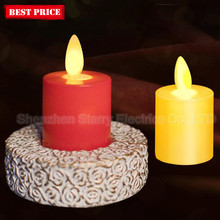 battery operated small led candle light with moving wick