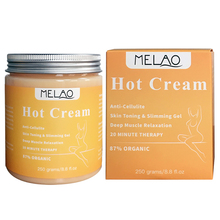 Melao Best Effective Natural Wholesale Hot Body Cream for Cellulite Reduction and Skin Toning and Slimming