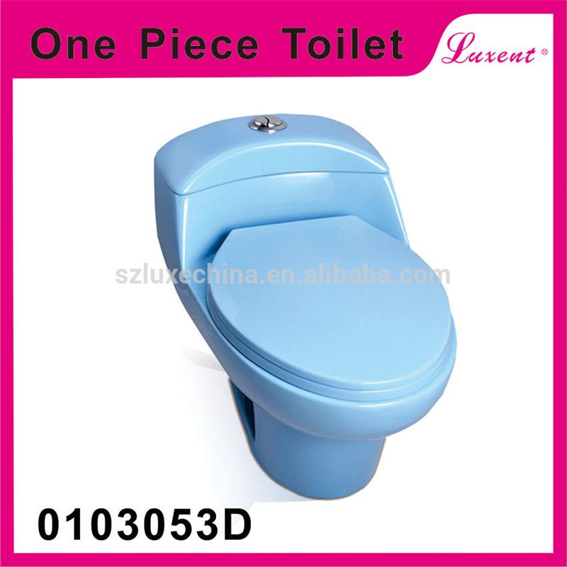 15-year professional oem experience round shape colorful s-trap ceramic oval one piece toilets for wholesales