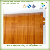 Wood pattern PVC self adhesive foil furniture film wall sticker