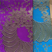 100%polyester fabric Africa style brocade fabric for women cloth