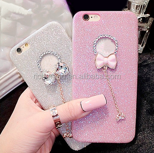 Soft Crystal Bling Glitter Powder Shine soft Phone Cases Cover For iPhone 5 5s 6 6 plus