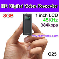 384 KBPS high quality voice recorder with 8GB memory, recording while charging