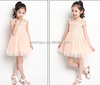 Mesh and Lace Girls Birthday Dresses 2017 Lovely Birthday Dresses for Girls