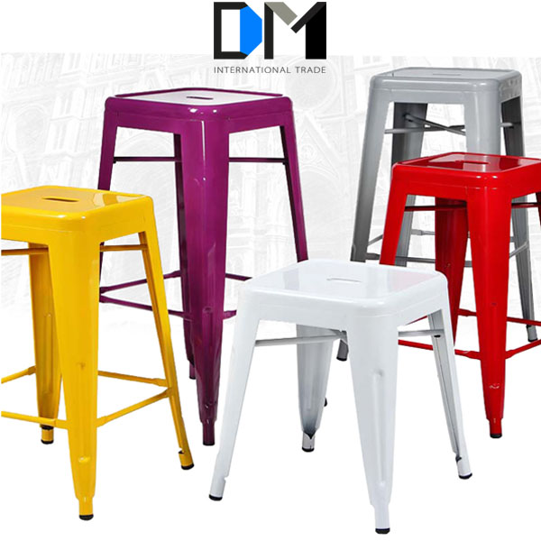 chaep industrial vintage metal frame italian bar stool for kids