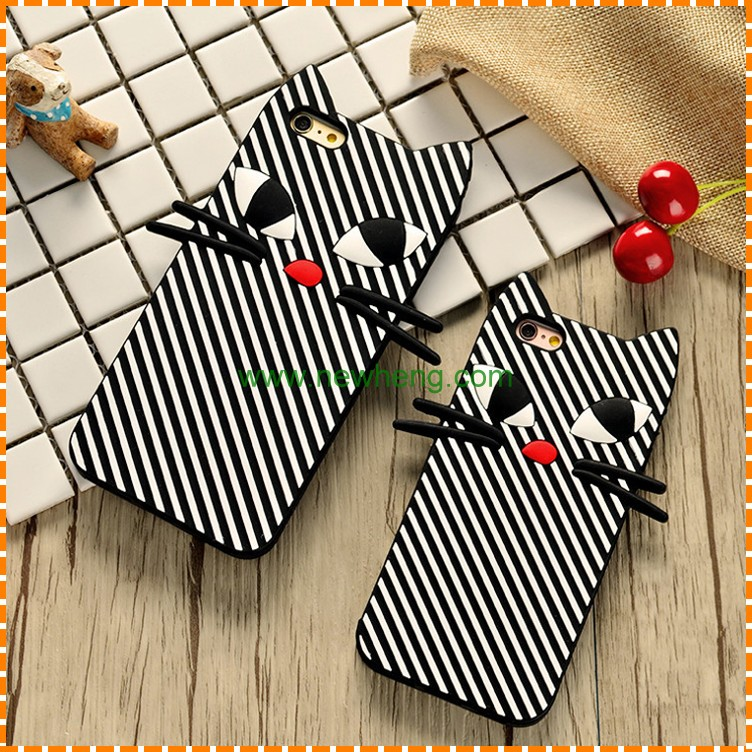 New Phone Case for Iphone 7 Cute Cat Ear Soft silicon Phone Case for Iphone 7