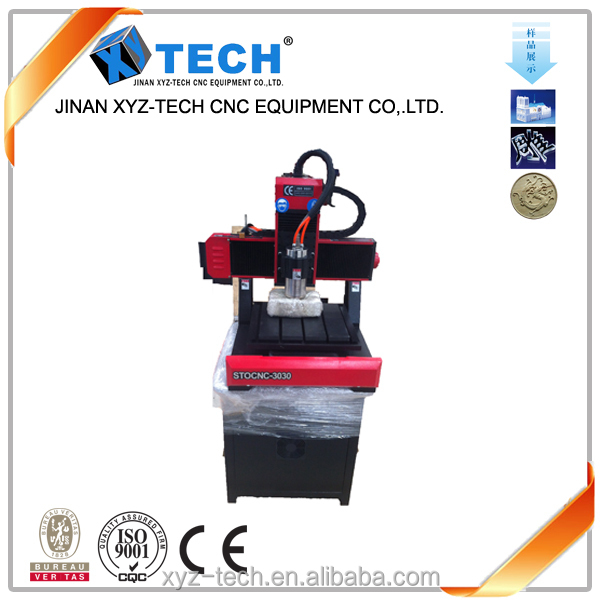Factory direct sale mini desktop hobby cheap lathe cnc router for metal,stone XYZ-TECH CHINA