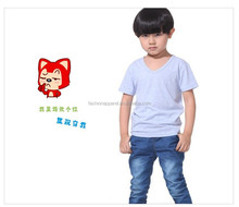 Wholesale fashionable child t-shirt, V-neck child t-shirt,blank child tshirt