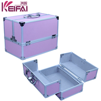 Aluminum Frame Double Open Function Hardside Cosmetic Carry Case