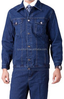 men's 100%cotton jean suit jacket wholesale