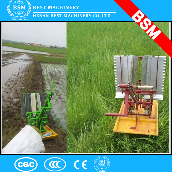 2 Rows Hand Operated Rice Transplanter/rice planter/paddy planting machine for sale