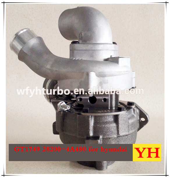 WEIFANG YUHANG Turbo GT1749V For Hyundai OEM 28200-4A480 Turbocharger For Engine D4CB 16V