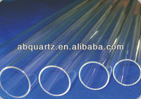 Clear round silica different size quartz infrared tube