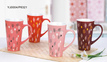 hot selling Simple 4 color ceramic stoneware coffee mug tea cup