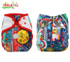 Ohbabyka New Patterns Baby One Size Printed Double Gussets Snaps Cloth Diaper Cover