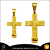 Fashion simple design 18k gold metal cross pendant and charms for fashion jewelry