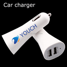 Logo print two double USB 2.1A /1.0 A car charger