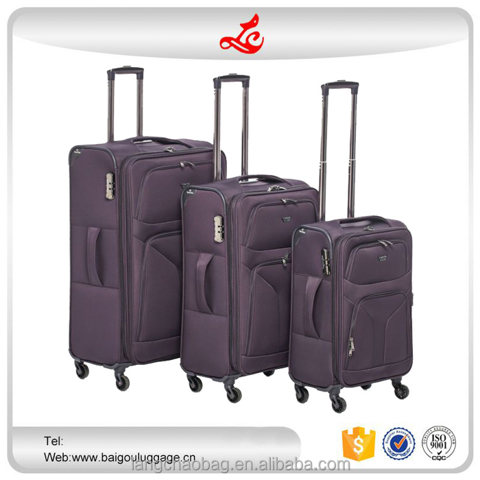 "High quality 3pcs trolley suitcase 20""24""28"" spinner wheel famous luggage brands nylon travel luggage"