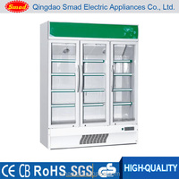 Beverage showcase,Glass display showcase,Cold showcase display refrigerators supermarket glass door refrigerator