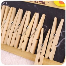 72mm Unfinished wooden clothes pegs with a spring,Natural Wood Clothespins Perfect for craft projects