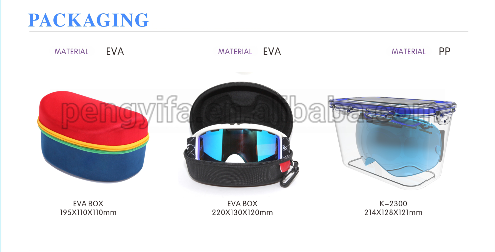 ski goggle packaging