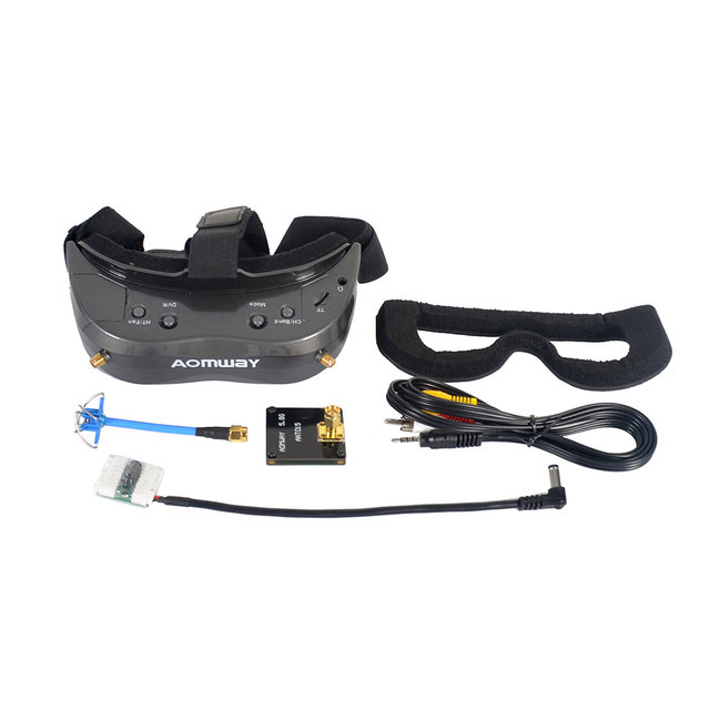 Aomway Commander V2 FPV Goggles 64CH 45 Degree FOV Goggle with DVR