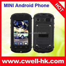 Z18 Mini Rugged Smart Phone Waterproof with MT6572 Dual Core Dual SIM Android Phone Smallest Z18 Pocket Cellphone Android 4.2