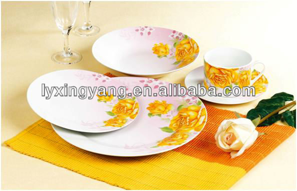 latest dinner set with popular design, opal ware dinner set,round dinner set