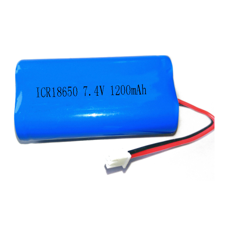 7.4V 1200Mah 8.9Wh Li-Ion Battery Pack,Rechargeable 18650 2S1P Li Lithium Ion Battery