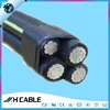 Manufacturer Supply Aluminum conductor XLPE insulation 33kv ABC Aerial Bundled Cable